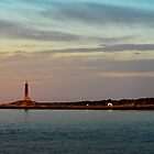 Thacher Island Lights as Dusk by Steve Borichevsky