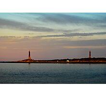 Thacher Island Lights as Dusk Photographic Print