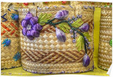 Old Fashion Handmade Straw Bag in The Bahamas by 242Digital