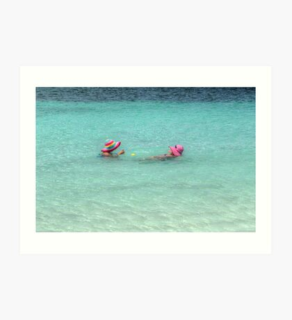 Enjoying the warm water in The Bahamas Art Print