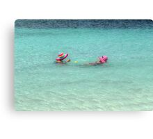 Enjoying the warm water in The Bahamas Canvas Print