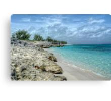 Beach in Paradise island, The Bahamas Canvas Print