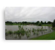 A slightly flooded Lisle Community Park Canvas Print