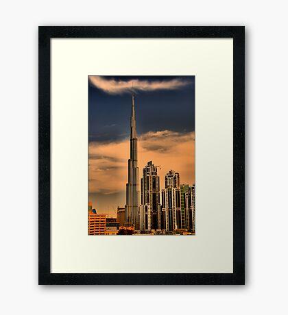Bhurj Khalifa from Business Bay Framed Print
