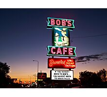 Bob's Cafe Photographic Print