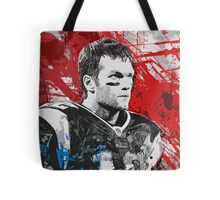 Tom Brady Red White and Blue Tote Bag
