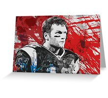 Tom Brady Red White and Blue Greeting Card