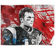 Tom Brady Red White and Blue Poster