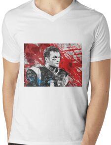 Tom Brady Red White and Blue Mens V-Neck T-Shirt