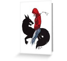 Red Riding Hoody Greeting Card