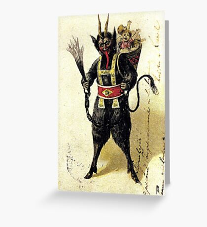 Krampus with a full sack Greeting Card