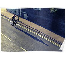 Girl on a Bicycle (Cross Process Effect) Poster