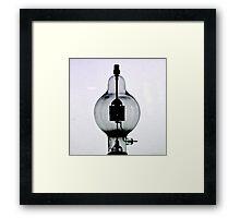 Antique Lightbulb Black and White Photograph Framed Print