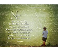 "Matthew 4:18 -""Fishermen"" Photographic Print"