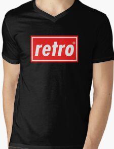 Retro - Red Mens V-Neck T-Shirt