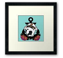 Sailor Stache Framed Print