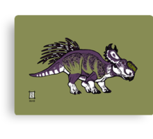 Purple and Green Pachyrhinosaurus Canvas Print