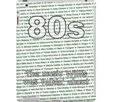 80s - The music Willis was talkin' about iPad Case/Skin