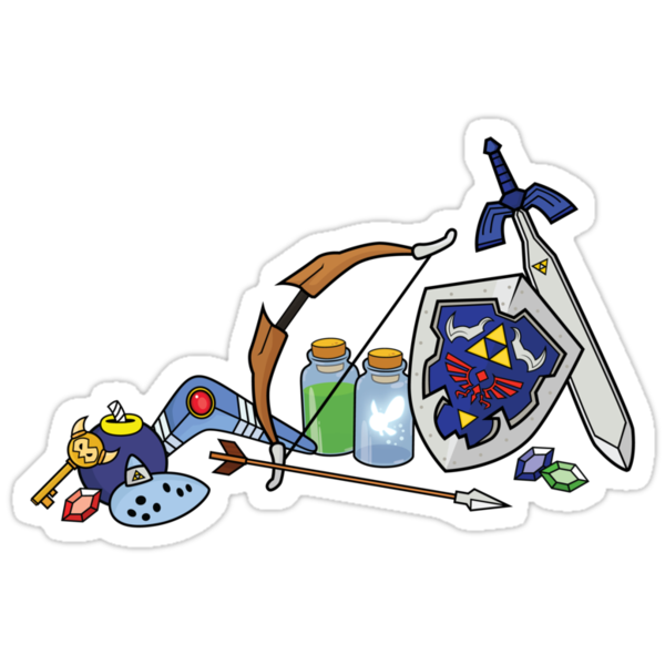 Zelda quest items by Korikian