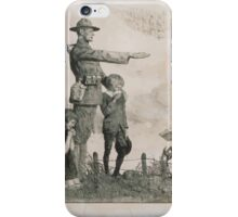 1778 1783 America owes France the most unalterable gratitude 1917  French comrade your children shall be as our children American Ouvroir Funds 1 iPhone Case/Skin