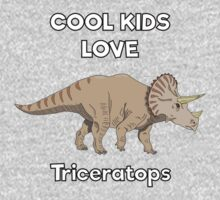 Cool kids love triceratops One Piece - Long Sleeve