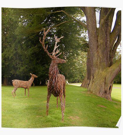 Deer sculptures at Scone Poster