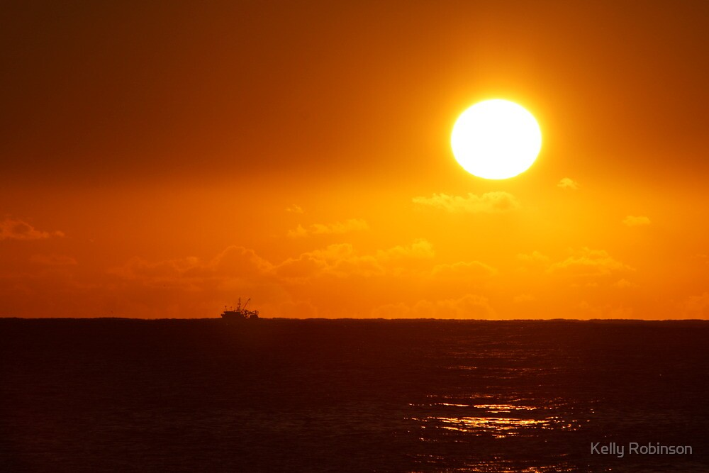 Sunrise Fisherman by Kelly Robinson