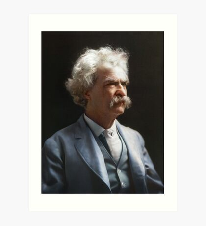 Colorized  - Mark Twain / Samuel L Clemens Art Print