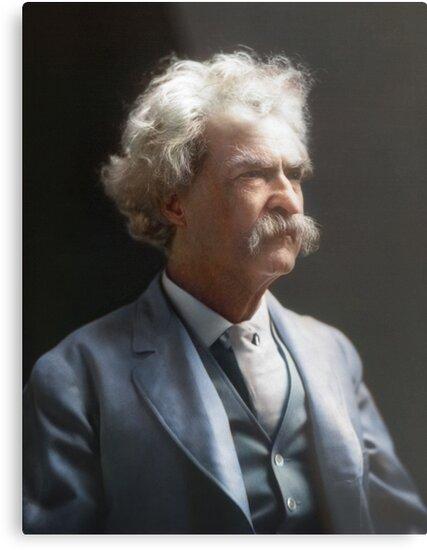 Colorized  - Mark Twain / Samuel L Clemens by Sanna Dullaway