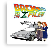 Back to the X-Files Canvas Print