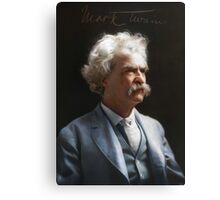 Colorized  - Mark Twain / Samuel L Clemens with signature Canvas Print