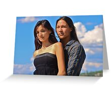 Rick Mora & Taywanee Reevis Greeting Card