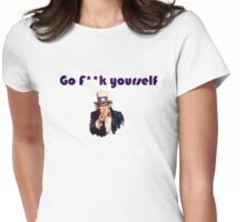 go f**k yourself invisible Obama Eastwooding Womens Fitted T-Shirt