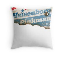 Heisenberg Campaign Poster 2012 Throw Pillow