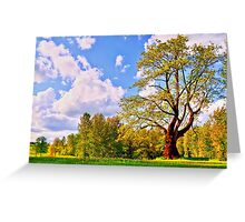 Tree and Park Greeting Card