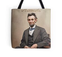 Colorized  - Abraham Lincoln with Signature Tote Bag