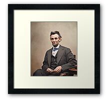 Colorized  - Abraham Lincoln Framed Print