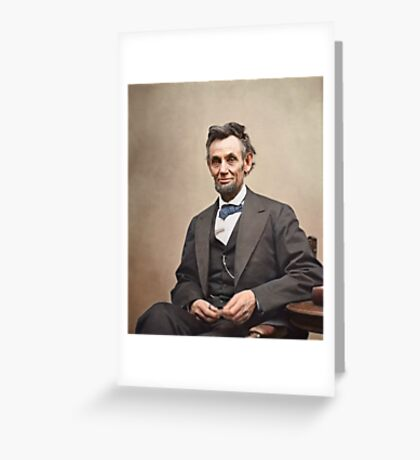Colorized  - Abraham Lincoln Greeting Card
