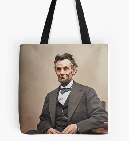 Colorized  - Abraham Lincoln Tote Bag
