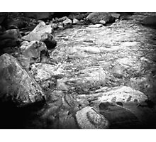 Black and White River Photographic Print