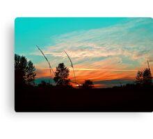 Colorful Farmland Sky Canvas Print