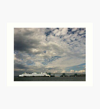 Edmonds Ferry Dock, Washington State Art Print