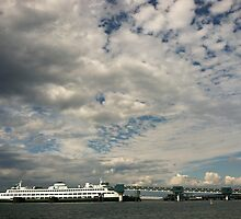 Edmonds Ferry Dock, Washington State by Julie Van Tosh Photography