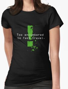 Too Encumbered to Fast Travel Womens Fitted T-Shirt