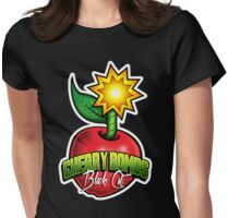 Black Cat Cherry Bombs Womens Fitted T-Shirt