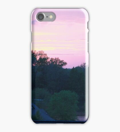 Dusk over Lake Doster iPhone Case/Skin