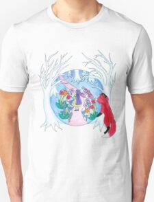 Girl in Fantasy Forest T-Shirt