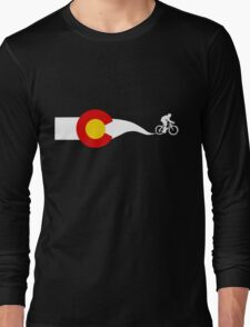 Colorado Flag Cyclist Long Sleeve T-Shirt