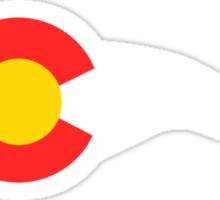 Colorado Flag Cyclist Sticker