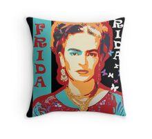 Digital Frida Throw Pillow